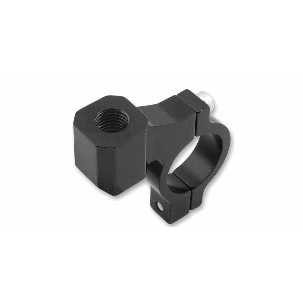 CNC adaptér zpětného zrcátka M10/1,25 pravý závit (22,2 mm průměr) (černý)