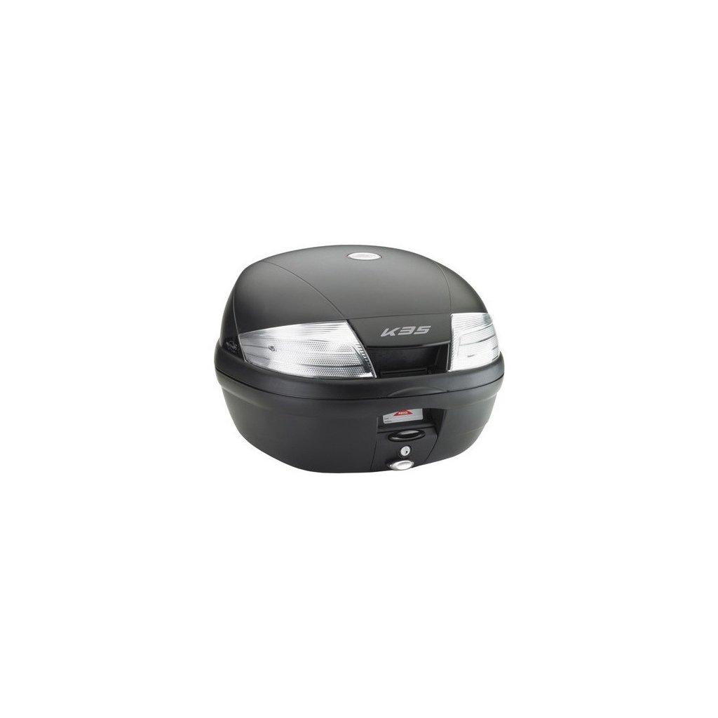 topcase, KAPPA (35L, černý nelakovaný + kouřová odrazka)