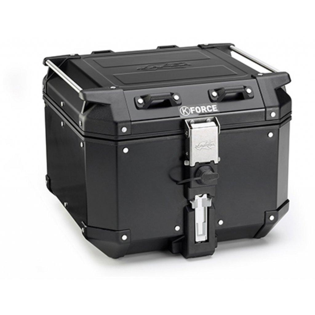 MONOKEY TopCase K-VENTURE - 42l, KAPPA (černý, hliník, 40,9x32,3x45,4 cm)