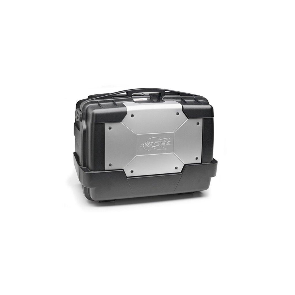 MONOKEY TopCase/Boční kufr GARDA - 46l, KAPPA (stříbrný/černý, kompozit)