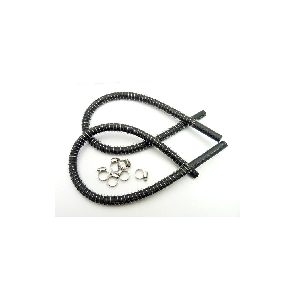 pitbike pryžové hadice olejového chladiče se stahovacími sponami pár, Stomp, DemonX, WPB