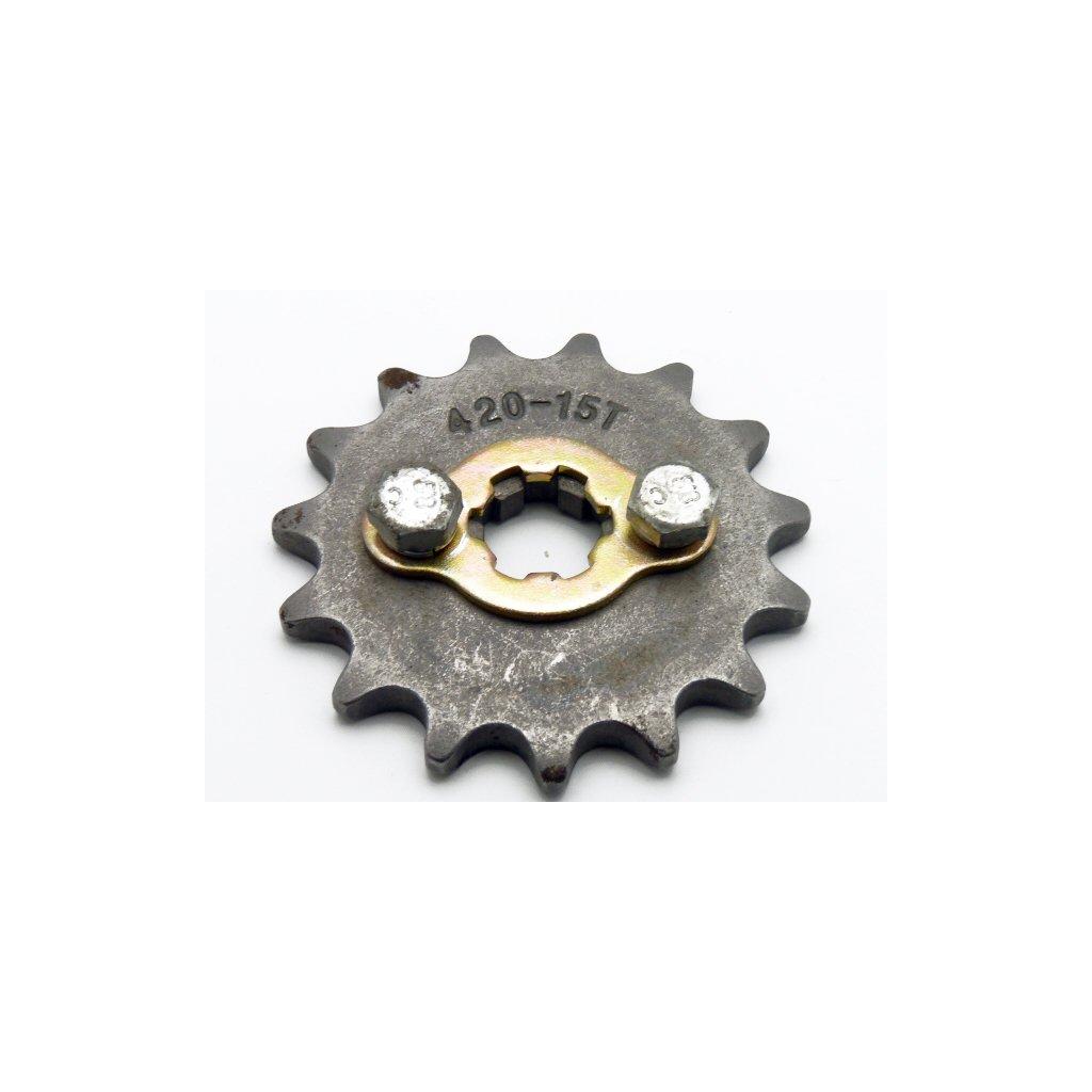 pitbike řetězové kolečko 420/15 na hřídel 17mm, Stomp, DemonX, WP