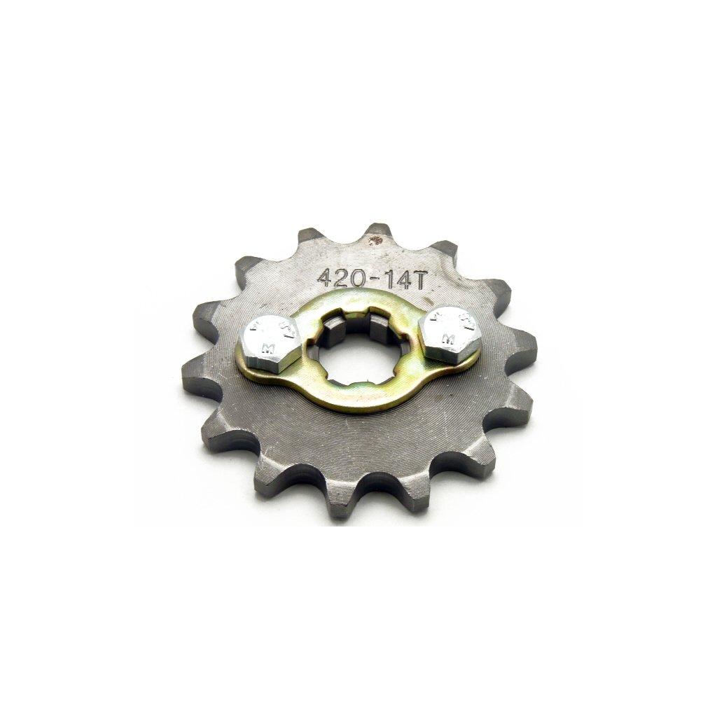 pitbike řetězové kolečko 420/14 na hřídel 17mm, Stomp, DemonX, WPB