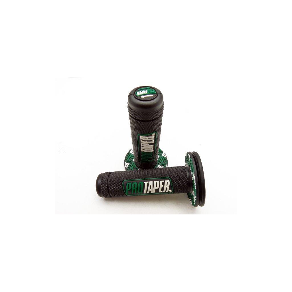 pitbike gripy PROTAPER Full Diamond černo zelené
