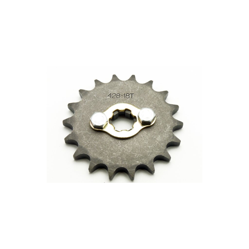 pitbike řetězové kolečko 428/18 na hřídel 17mm, Stomp, DemonX, WPB