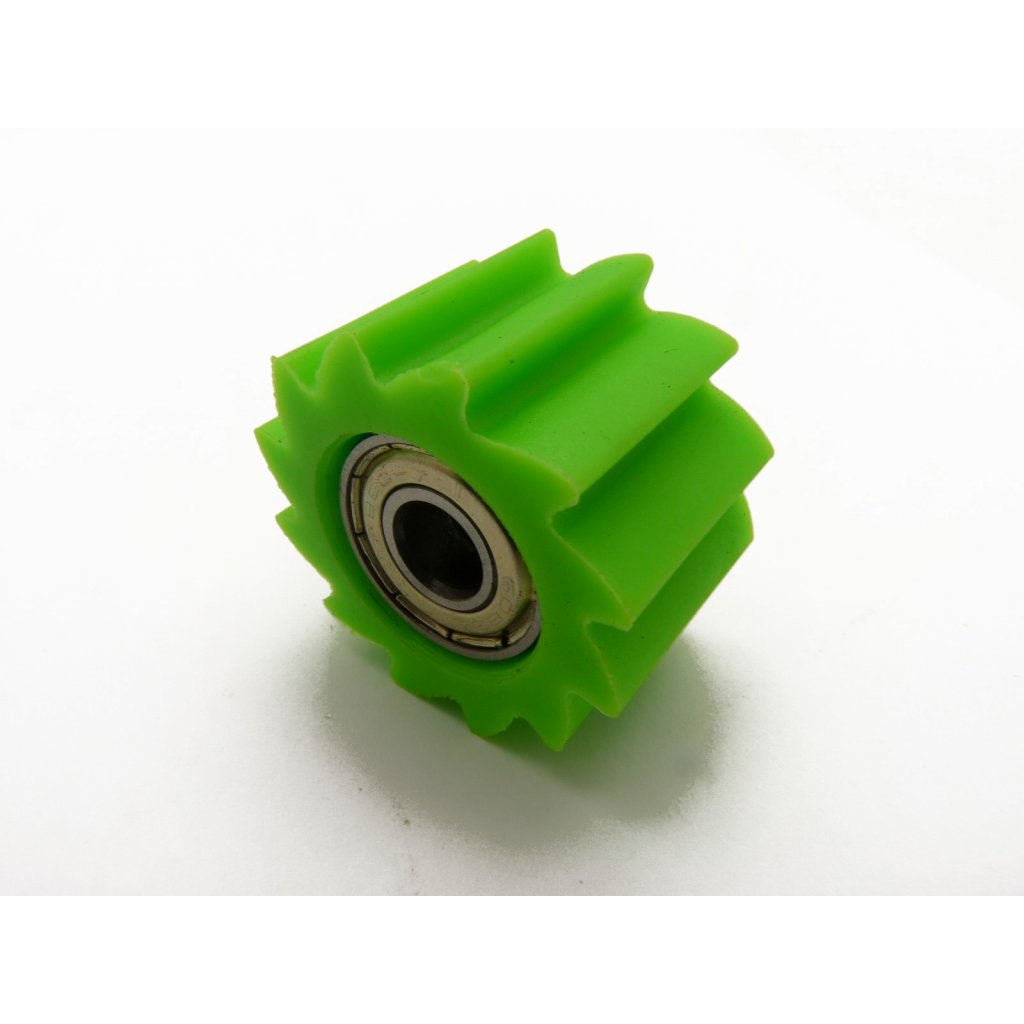 pitbike rolnička řetězu zubatá, vnitřní průměr 10mm, zelená, Stomp, DemonX, WPB