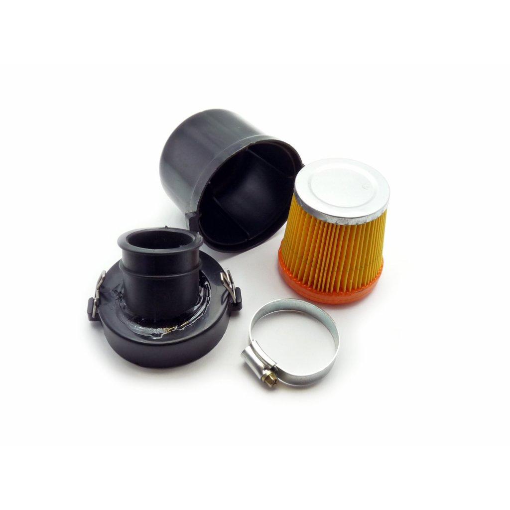 pitbike vzduchový filtr v plastovém boxu 38mm Stomp, DemonX, WPB