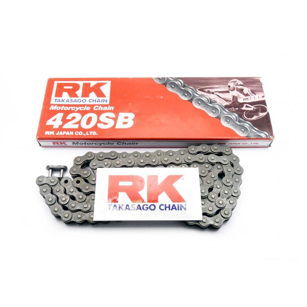 pitbike řetěz RK SB 420,128článků, Stomp, DemonX, WPB
