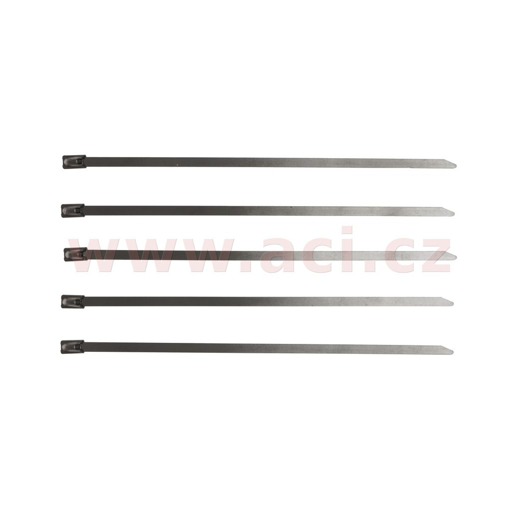 stahovací páska nerezová typ W4, 4,5x200 mm (sada 5 ks)