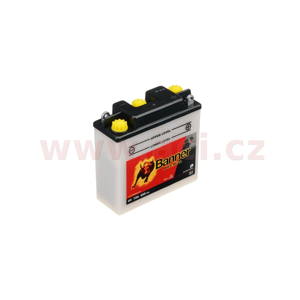 baterie 6V, B39-6, 7Ah, 60A, BANNER Bike Bull 126x48x126