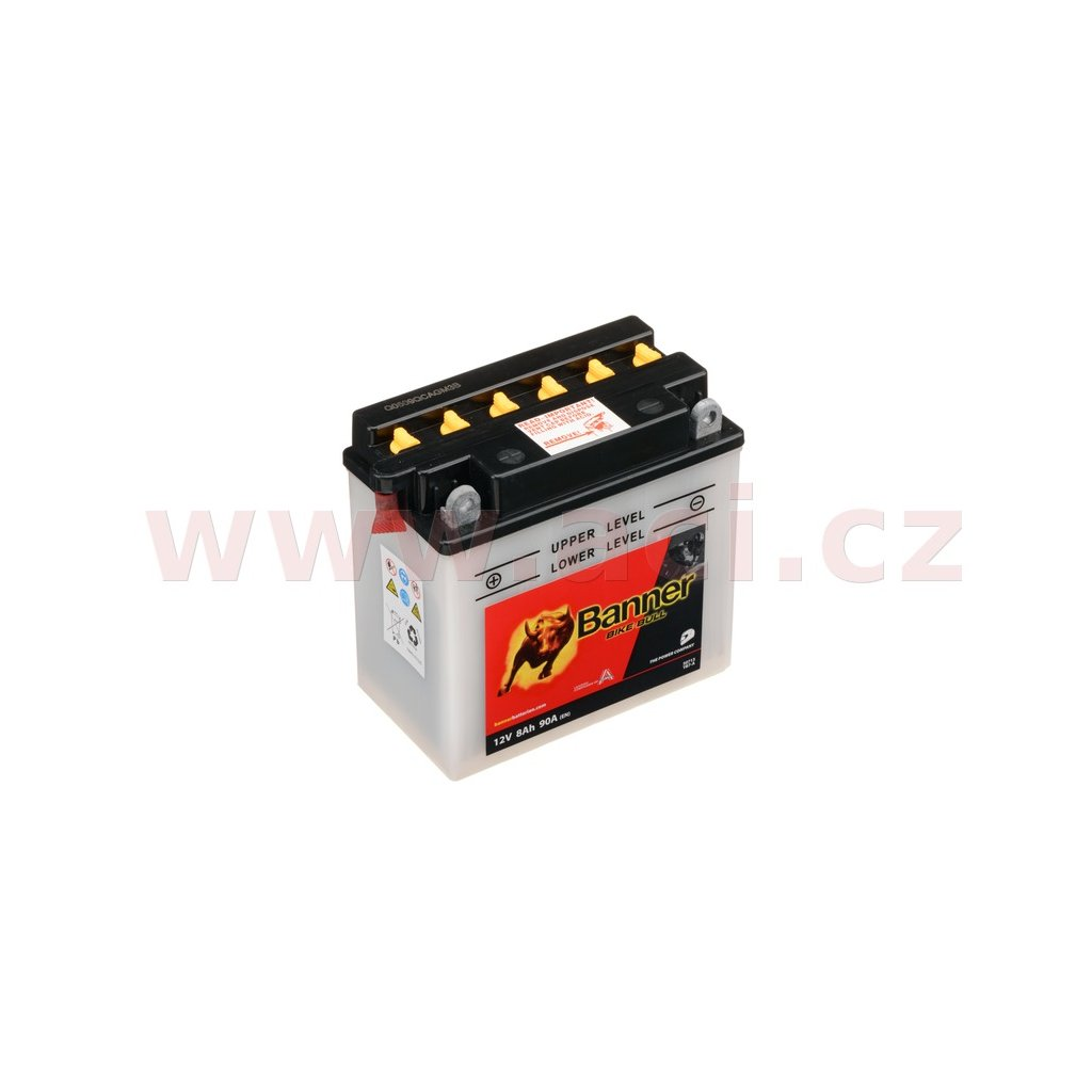 baterie 12V, YB7-A, 8Ah, 90A, BANNER Bike Bull 135(145)x75x133