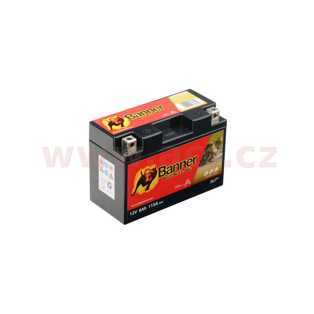 baterie gelová 12V, GT9B-4, 8Ah, 115A, BANNER Bike Bull GEL 150x69x105