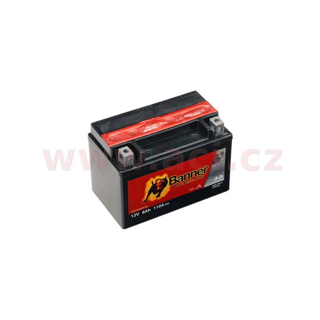 baterie 12V, YTX9-BS, 8Ah, 110A, BANNER Bike Bull AGM 150x87x105