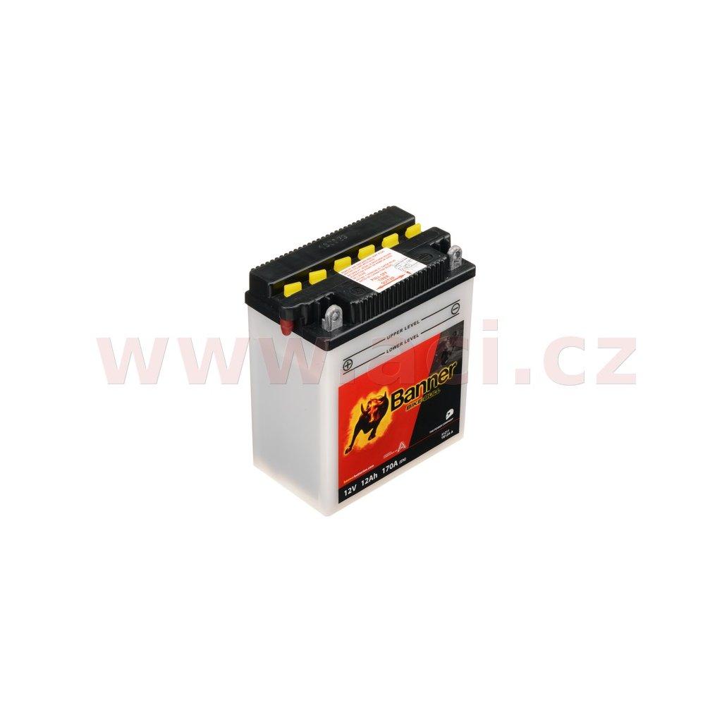 baterie 12V, YB12A-A, 12Ah, 170A, BANNER Bike Bull 134x80x160