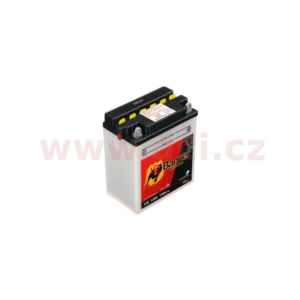 baterie 12V, YB12AL-A2, 12Ah, 170A, BANNER Bike Bull 134x80x160