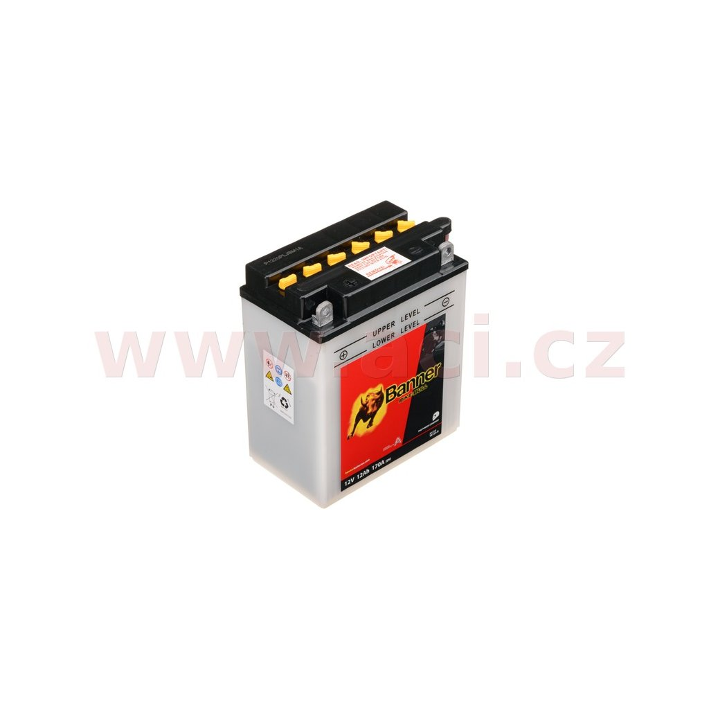 baterie 12V, YB12A-B, 12Ah, 170A, BANNER Bike Bull 134x80x160