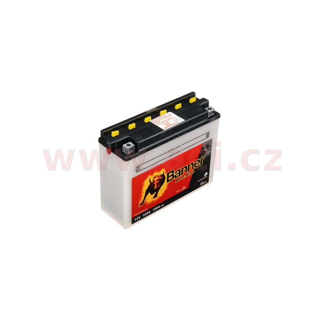 baterie 12V, YB16AL-A2, 16Ah, 190A, BANNER Bike Bull 207x71x164