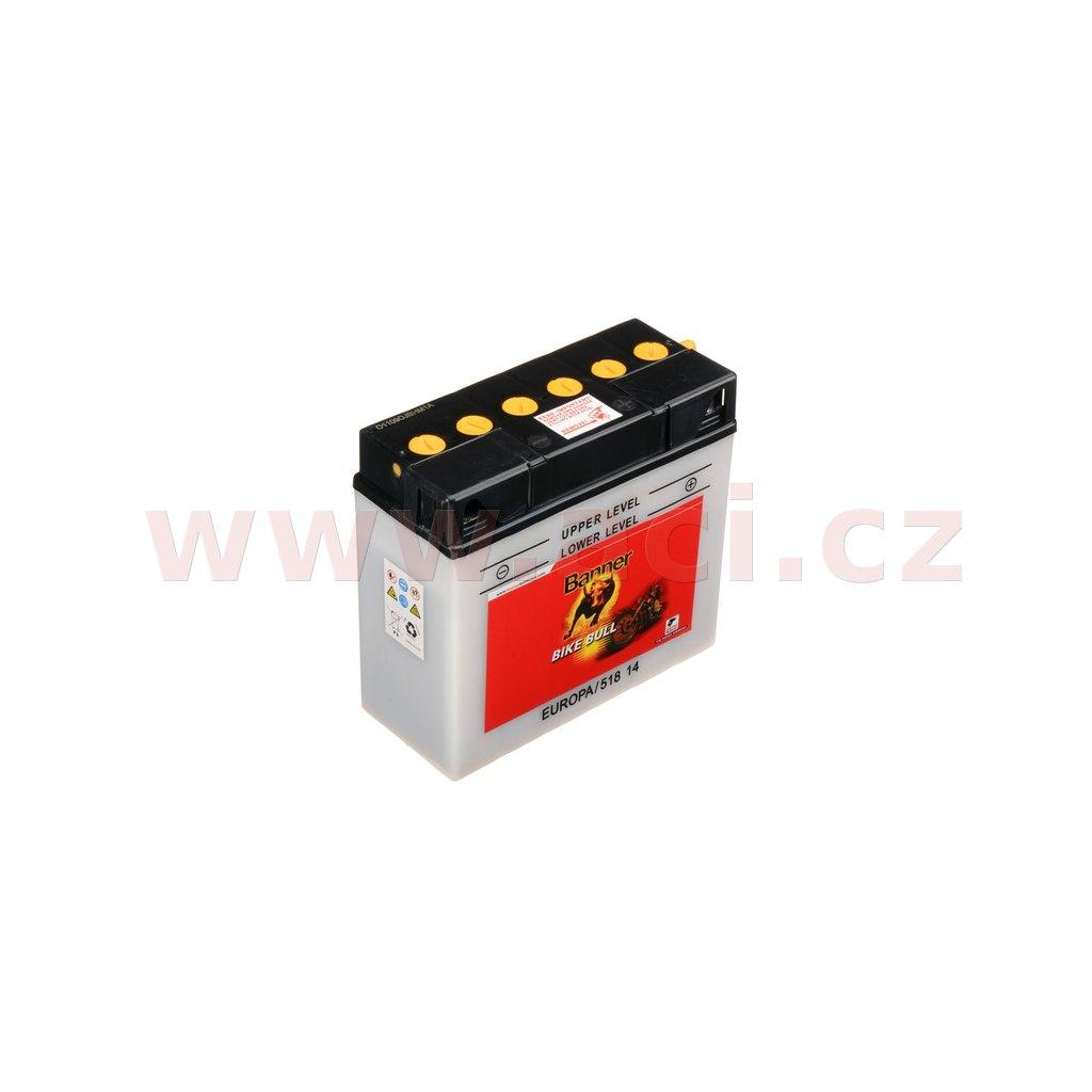 baterie 12V, 12N16A-3B, 19Ah, 150A, BANNER Bike Bull 186x82x171