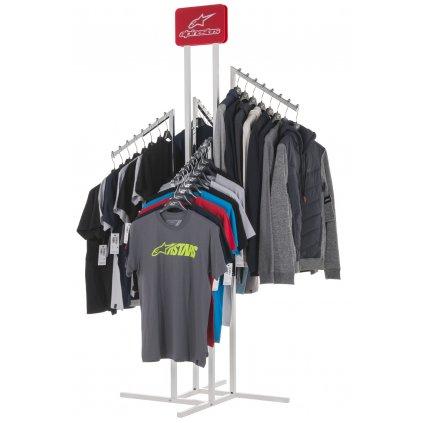 stojan křížový pro prezentaci triček, dresů, bund a kalhot, ALPINESTARS