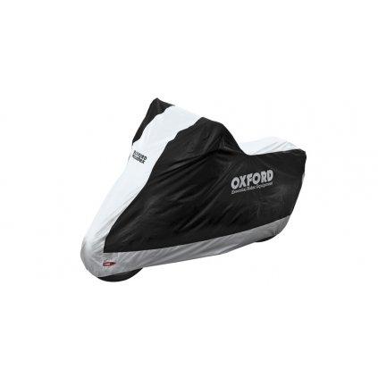 plachta na motorku Aquatex, OXFORD (černá/stříbrná)