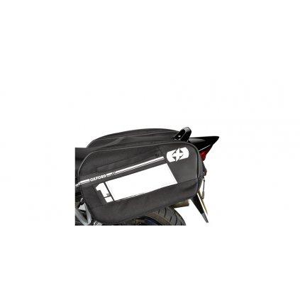 boční brašny na motocykl F1, OXFORD - Anglie (černé, objem 55 l, pár)