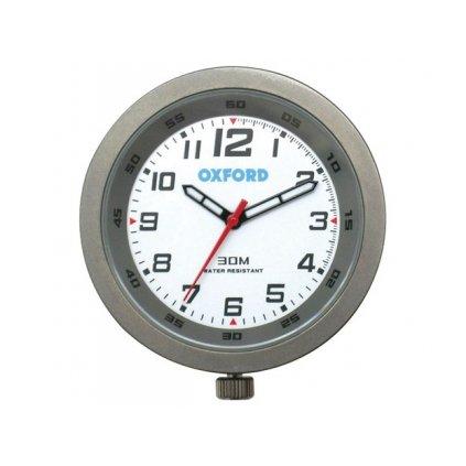 analogové hodiny, OXFORD - Anglie (titanový rámeček, luminiscenční ciferník)