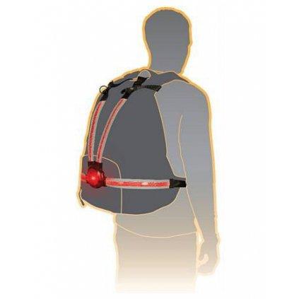 světelný pás Commuter X4 s LED světlem pro aktivní ochranu, OXFORD (na tělo nebo na batoh, světelný tok 30 až 70 lm)