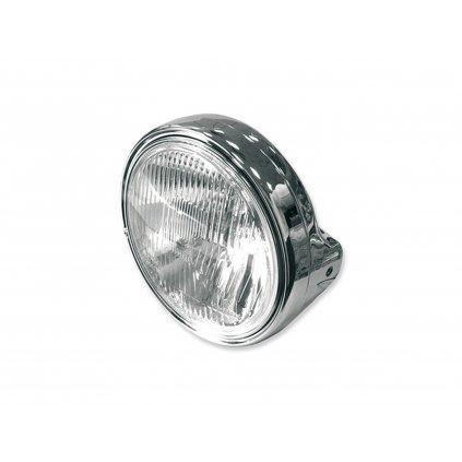 přední světlo hlavní kulaté chrom (průměr 190 mm, H4 12V 60/55W)