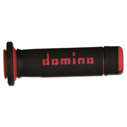 gripy (ATV) délka 118 + 125 mm, DOMINO (černo-červené)