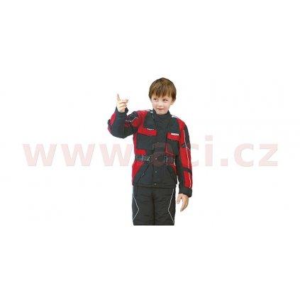 bunda Taslan, ROLEFF - Německo, dětská (černá/červená)