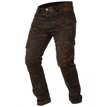 kalhoty CAMINO, AYRTON (hnědé camo/seprané)