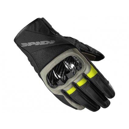 rukavice BORA H2OUT, SPIDI (černé/pískové/žluté)