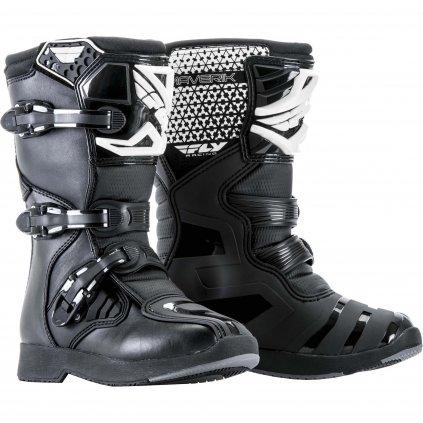 boty NEW Maverik Youth, FLY RACING, dětské (černá)