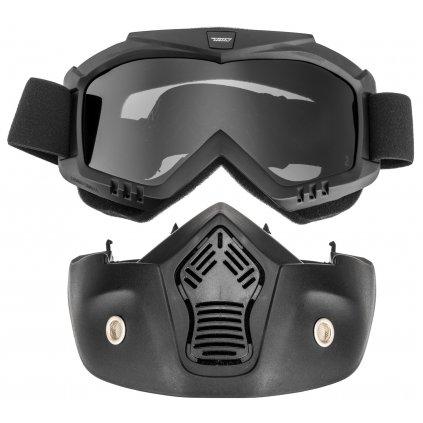 brýle s maskou URNA (tmavé plexi)