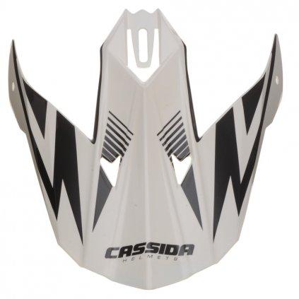 kšilt pro přilby Cross Cup One, CASSIDA - ČR (bílá perleť/černý)