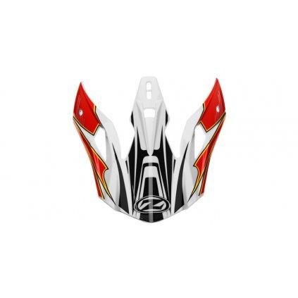 kšilt pro přilby X1.9 a X1.9D, ZED (bílá/černá/červená/žlutá)