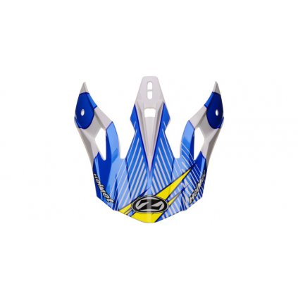 kšilt pro přilby X1.9 a X1.9D, ZED (bílá/modrá/žlutá fluo/černá)