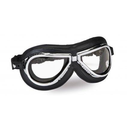 Vintage brýle 500, CLIMAX (černé/chrom, skla čiré)