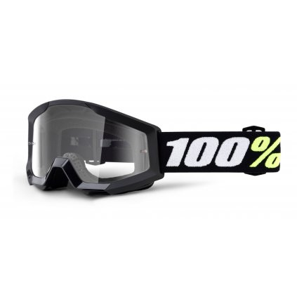 brýle Strata Mini Gron Black, 100% dětské (čiré plexi)