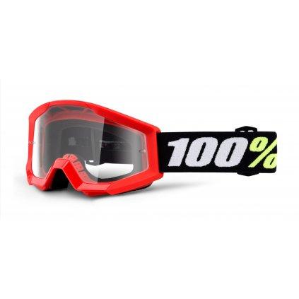 brýle Strata Mini Gron Red, 100% - USA dětské (čiré plexi)