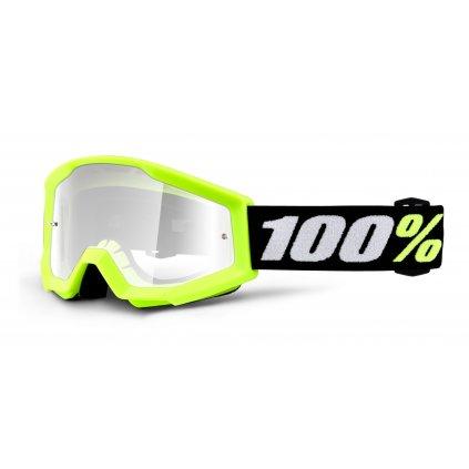 brýle Strata MINI, 100% - USA dětské (žlutá, čiré plexi)