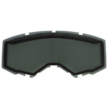 plexi Dual 19', FLY RACING - USA /kouřové polarizační , Anti-fog)