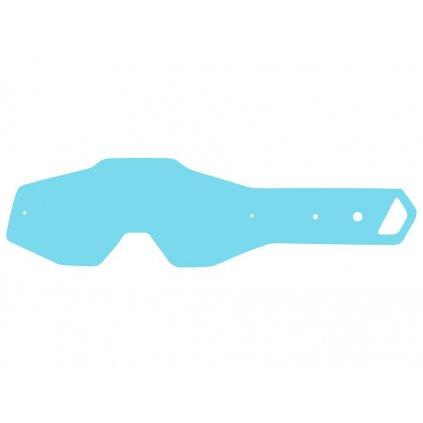 strhávací slídy plexi pro brýle 100% řady ACCURI/STRATA dětské, Q-TECH (50 vrstev v balení, čiré)