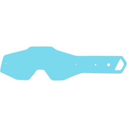 strhávací slídy plexi pro brýle 100% řady ACCURI/STRATA dětské, Q-TECH (10 vrstev v balení, čiré)