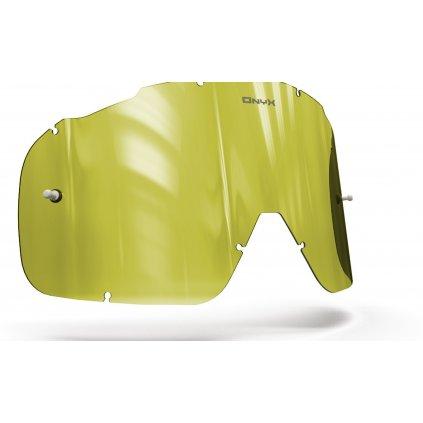 plexi pro brýle FOX RACING AIRSPC, OnyxLenses (Hi-Vis žluté s polarizací)
