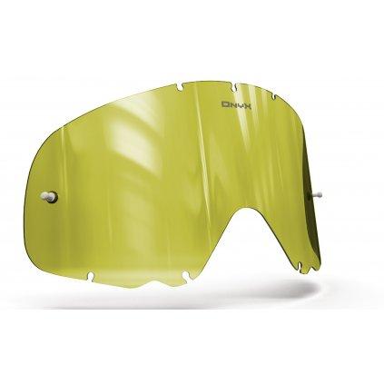 plexi pro brýle OAKLEY CROWBAR, ONYX LENSES (Hi-Vis žluté s polarizací)