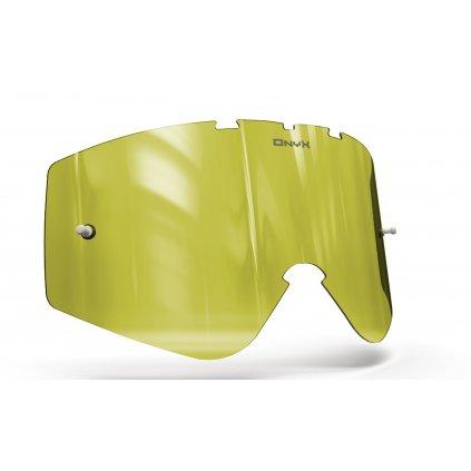 plexi pro brýle O'NEAL B-ZERO, OnyxLenses (Hi-Vis žluté s polarizací)
