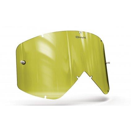 plexi pro brýle SMITH FUEL/INTAKE, ONYX LENSES (Hi-Vis žluté s polarizací)