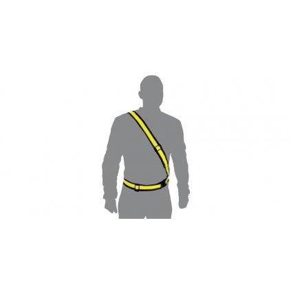 reflexní pás ramenní, OXFORD (žlutá fluo)