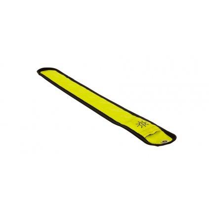 reflexní pásek Bright Halo se světlem z optických vláken, OXFORD - Anglie (žlutá fluo, rozměry D x Š = 353 x 45 mm)